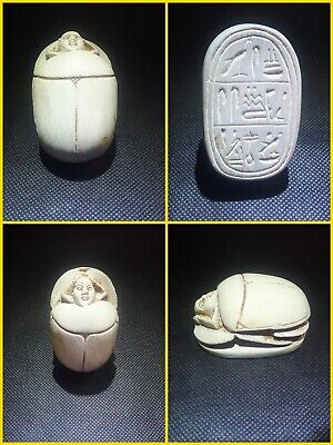 EGYPTIAN ANTIQUES ANTIQUITIES Scarab Beetle Khepri Figure Sculpture 1549-1175 BC