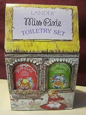 Vintage Miss Pixie Rose Scented Lotion And Herbal Shampoo - Mib
