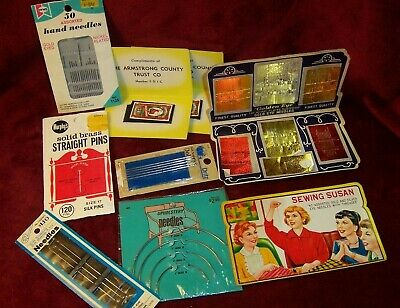E- Vintage Advertising Sewing Needles + SEWING SUSAN + DOLL MAKING + UPHOLSTERY