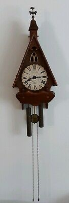Vtg New England Clock Co. Cathedral Germany Wood Clock Weights Pendulum PARTS