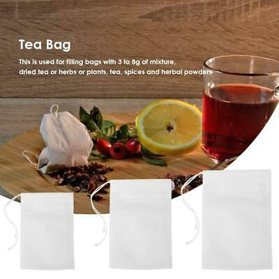 100pc Empty Tea Bag Heat Sealing Filter Paper Clean Loose Bag String Teabag Herb