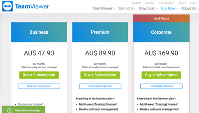 TeamViewer 14 Corporate License 1Y - Unlimited devices