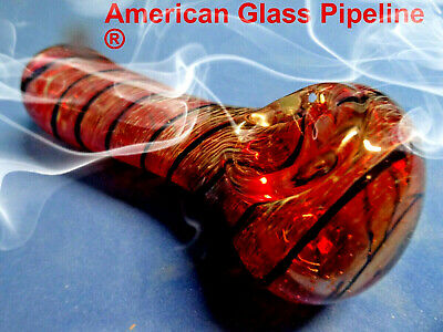 "Chicago Fire . Hottest Class Pipe Made with Heavy Pyrex Glass 4.5"" 120 grams"
