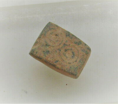 Byzantine Period Bronze Weight Or Gaming Piece With Ring And Dot Motifs