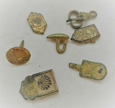 Very Nice Group Of Gold Gilded Artefacts