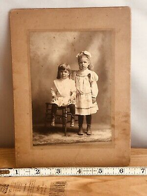 Antique Cabinet Photo Card Brother & Sister Nathan /Mabel Smith Mass