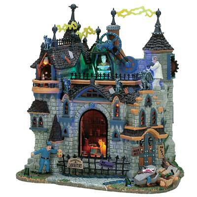 Lemax Spooky Town Frankenstein's Laboratory #75501 Halloween Retired 2005