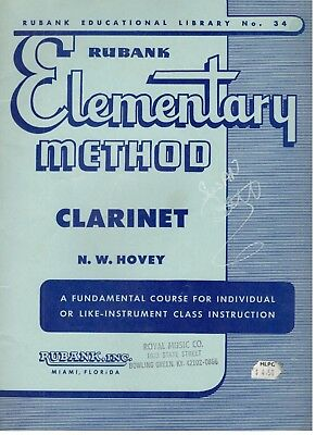 Rubank Elementary Method Clarinet By N. W. Hovey Fundamental Course Instrument