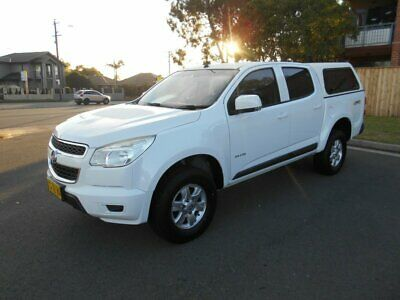 2012 Holden Colorado RG LX (4x4) White Automatic 6sp A Crew Cab Pickup