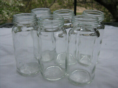 SET of SIX  Fowlers Vacola  Preserving  #10 small JAR ONLY VINTAGE 1/2lb size