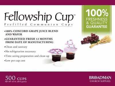 Communion-Fellowship Cup Prefilled Juice/Wafer (Box Of 500)