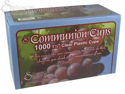 Communion-Cup-Disposable (Clear)-1-1/4  (Pack of 1000)