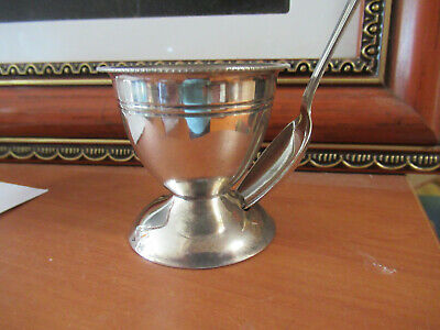 A Vintage Egg Cup And Spoon Both Silverplated E.p.n.s.