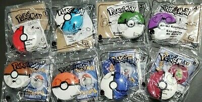 2019 McDONALD'S POKEMON - COMPLETE SET OF 8 WITH CARDS - ON HAND - FREE SHIPPING