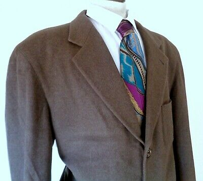 Hugo Boss Cashmere Wool Barneys New York Mens Sports Jacket Size 44R Made In Ger