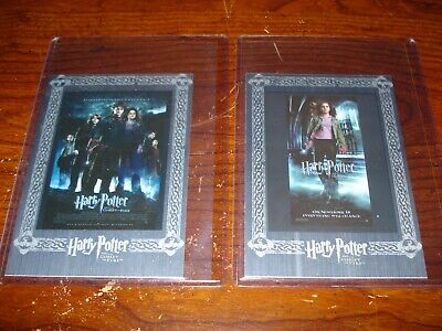 Harry Potter Goblet of Fire Jumbo Movie Poster Cards Silver Lot of 2