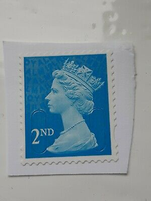 50 x 2nd Class Security Stamps Unfranked ON Piece F/V £30.50 BLUE (B)