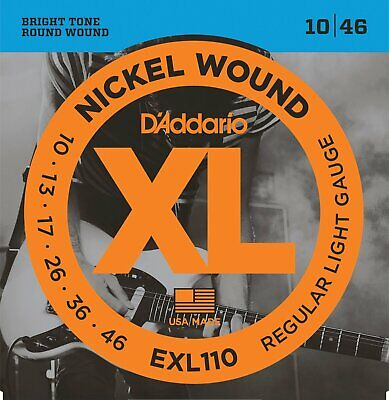 Daddario Exl110 10-46 Electric Guitar Strings