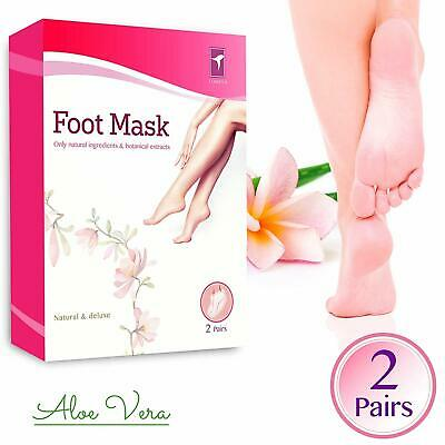 2 Pack Tomiya Exfoliating Foot Peel Mask for Softer Smooth Feet Exp 10/2020