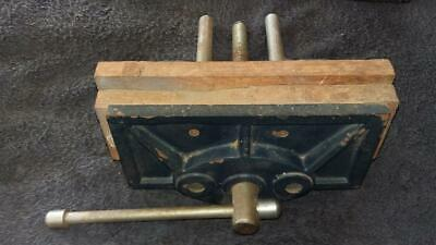 "Woodwork Vice,8"",200mm.tools,workshop,house,hobby,craft,woodwork,timber,old."