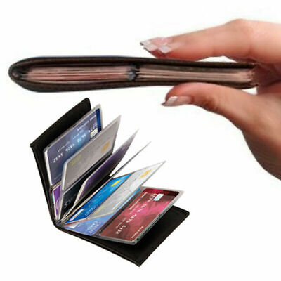 Amazing Slim RFID Wallets Black Leather New H3Z2