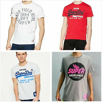 Multi-style Superdry Mens S/Sleeve Tee Shirt Graphic T-shirt Casual Top XS-2XL