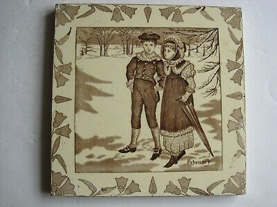 "Antique 8"" Wedgwood Months Of The Year (Old English Series) - February C1878"