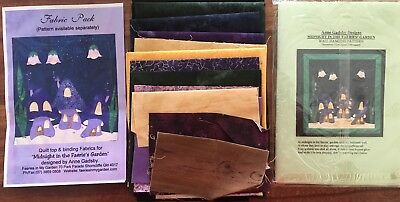 Midnight in the Faeries Garden Wall Hanging Patchwork Quilt kit 24in (62cm) sq