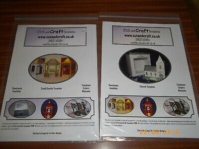 2 Cut & Craft Templates - Gazebo  And Church With Boxes Brand New
