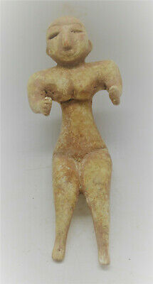 Circa 2200-1800Bce Ancient Indus Valley Harappan Terracotta Male Statuette