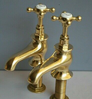 Old Brass Bath Taps  Bathroom Taps Reclaimed & Fully Refurbished Brass Taps