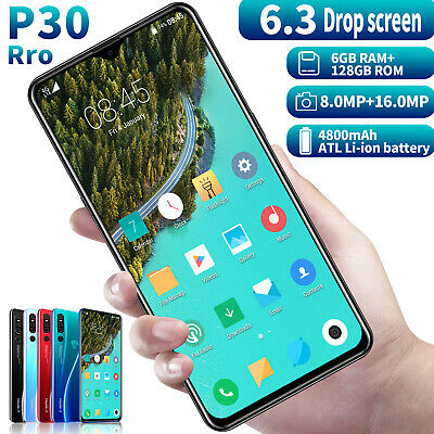 P30 Pro Unlocked Smart Phone 6.3'' Android 9.1 Dual SIM Mobile 6G RAM 128G ROM