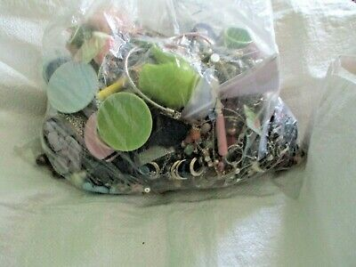 Huge Mixed Job Lot Used Vintage Modern Costume Jewellery ,6Kg,For Craft
