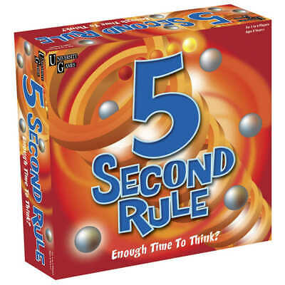 NEW Five Second Rule Unique Family Friendly Fun Fast Paced Kids Party Board Game