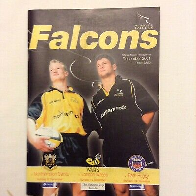 Rugby Union Programme Newcastle Falcons V Multi Teams In Dec. 2001