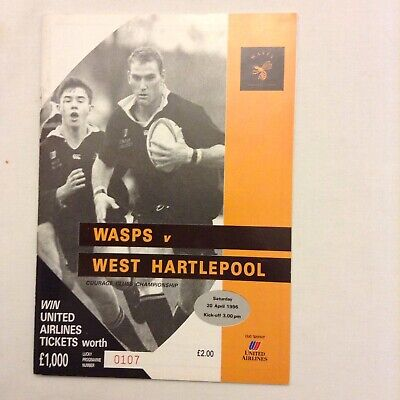 Rugby Union Wasps V West Hartlepool 20th April 1996