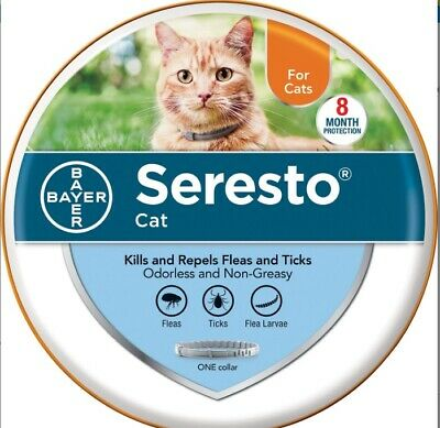 New Bayer Seresto Flea And Tick Collar For Cats, 8-Month Protection (New Look)