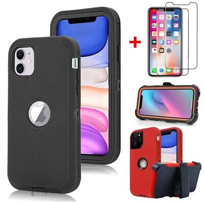 For Apple iPhone 11 11 Pro Max Armor Case Cover Belt Clip Fits Otterbox Defender