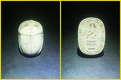 EGYPTIAN ANTIQUES ANTIQUITY Scarab Beetle Khepri Figure Sculpture 1549-1176 BC