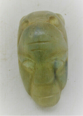 Unresearched Ancient Near Eastern Crystal Stone Carving Face Depiction