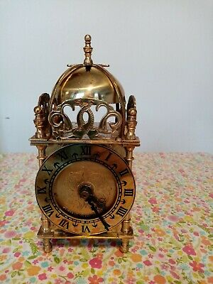 Smiths Lantern Bell Brass Carriage Mantle Clock