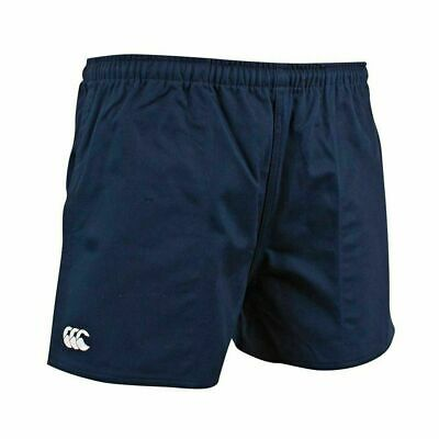 Ccc Canterbury Professional Player Rugby Navy Shorts Cotton Twill + Pockets