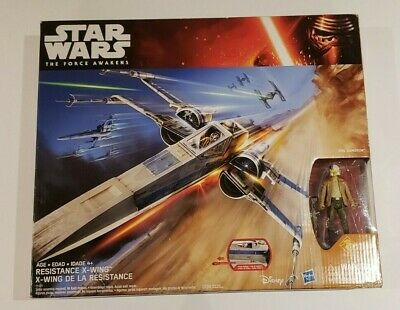 Star Wars: The Force Awakens, Exclusive Resistance X-Wing with Poe Dameron Actio