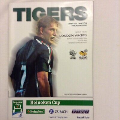 Rugby Union Leicester Tigers V London Wasps 12th December 2004