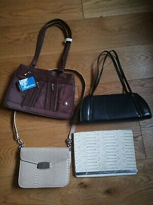 Small Job Lot of Vintage (?) Handbags By Various Brands 4 Bags Included