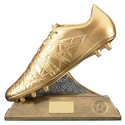 Football Trophies Resin Golden Boot Football Trophy Award 2 sizes FREE Engraving