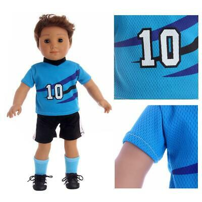 Comfortable Jersey Boy Friend Doll Suit For 18 inches clothing Sportswear B N8A3