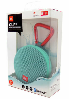 JBL Clip 2 IPX7 Waterproof Wireless Portable Bluetooth Speaker New in Retail