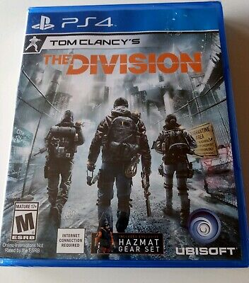 Tom clancy's The Division PS4 Playstation 4 Brand New Sealed w/ Hazmat Gear Set