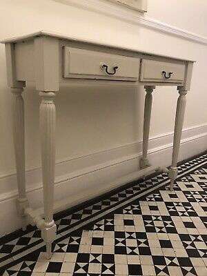 Antique Ivory Console Table  hand painted